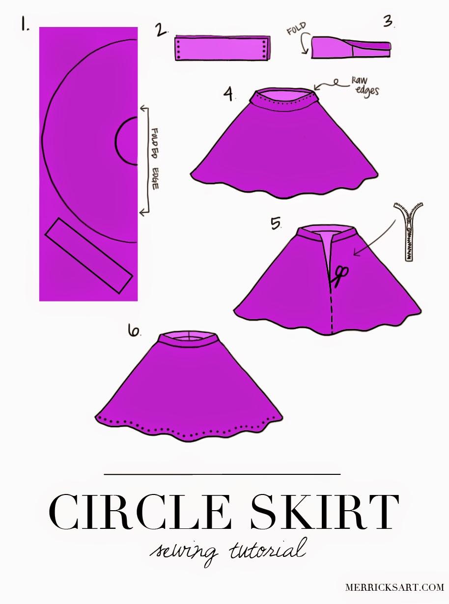 Сшить юбку полусолнце на резинке