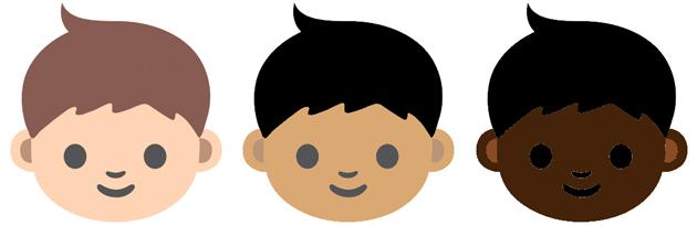 emoji 表情符号有机会加入更多肤色,反映种族多样性图片