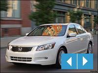 Honda Accord white sedan on road