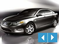 silver 2010 Ford Taurus front