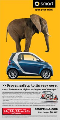 Smart USA Today ad elephant