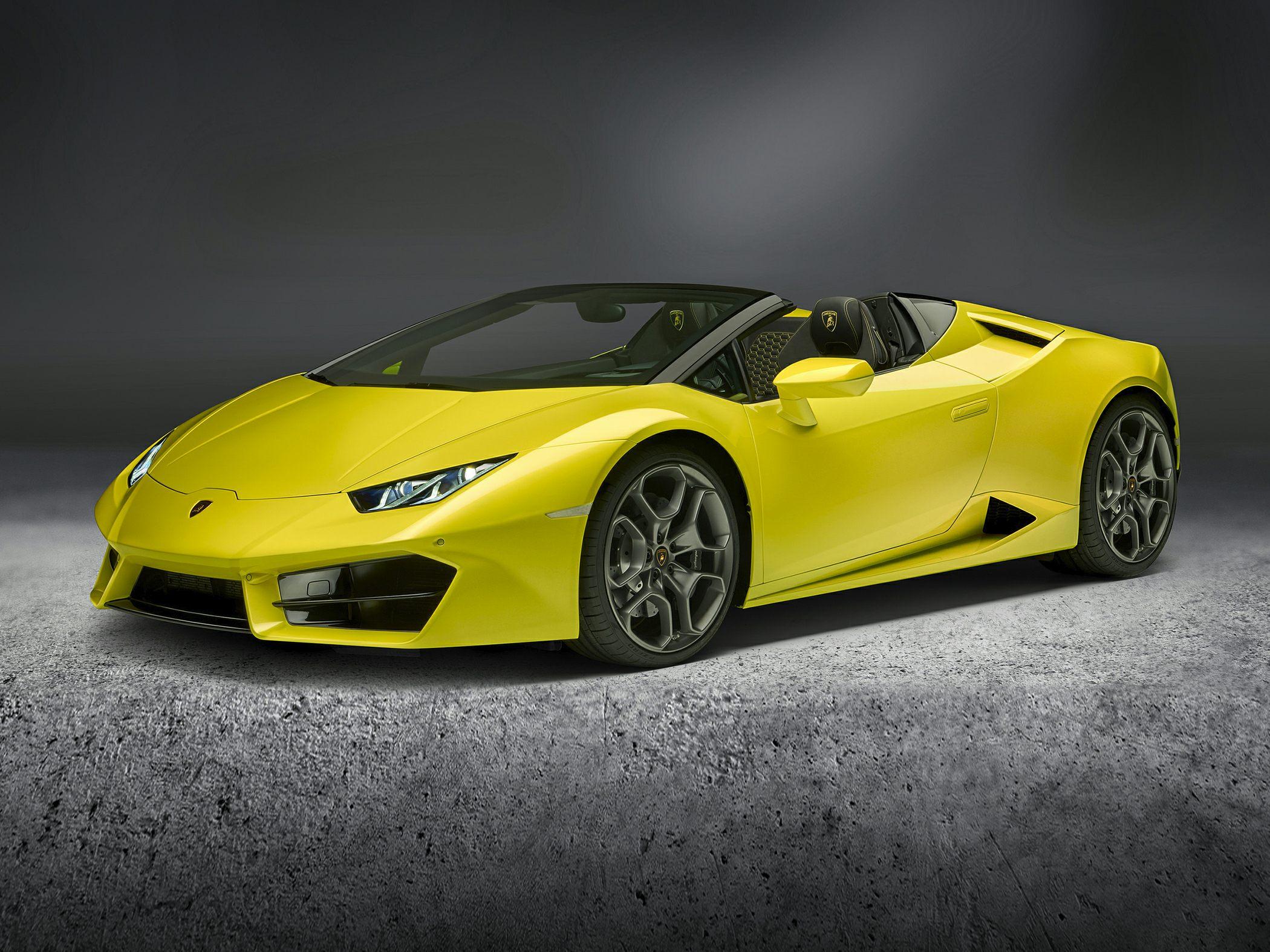 2019 Lamborghini Huracan Lp580 2s 2dr Rear Wheel Drive Spyder
