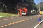 Good Samaritans Rescue Man from Burning Car