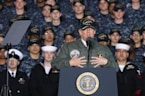 Trump Asks Navy Crowd to Call Congress About His Budget