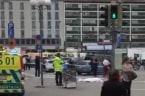 Body Bag Seen in Turun Market Square Following Stabbing Attack