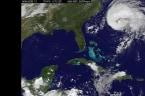 Satellite images show routes of Hurricane Jose and Hurricane Maria