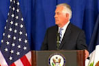 Tillerson says 'no yelling' involved in Iran deal meeting