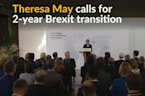 May calls for post-Brexit transition in single market