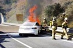 Telsa Catches on Fire After Accident on West Austria Highway