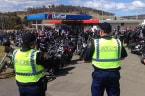 Rebels Motorcycle Gang Bikies Arrive in Tasmania for Chapter Anniversary