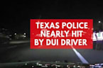 Dashcam footage shows Texas DUI driver almost crashing into police