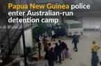 Papua New Guinea police order asylum seekers out of Australia-run camp