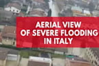 Aerial View Of Severe Flooding In Italy Captured After Residents Evacuated