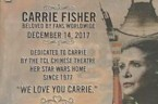 Carrie Fisher honored with plaque in Hollywood