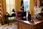 White House Releases Photo Of Trump 'Working' During Shutdown