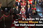 Minnie Mouse honored by Hollywood after 90 years of waiting