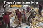 Driven by desperation, displaced Yemenis live off garbage dump