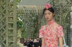 Guests treated to Chanel's floral themed Paris fashion show
