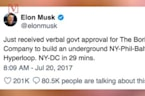 Elon Musk Gets the Green Light to Start Digging Futuristic Tunnel in DC