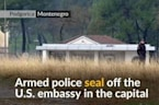 Explosive device thrown at U.S.embassy building in Montenegro