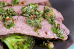 How to Make Sheet Pan Flank Steak with Salsa Verde
