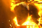 "Giant sculptures burn in Valencia ending annual ""Fallas"" festival"