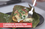 Caribbean-Spiced Fish Wrapped in Banana Leaves LIVE