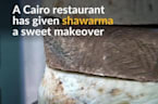 Chocolate on a spit anyone? Cairo restaurant gives traditional shawarma wrap a sweet makeover