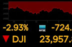 Dow tumbles 724 points on trade war fears