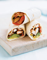 Seared Chicken & Vegetable Wraps