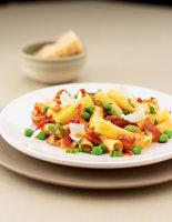 Peas, Speck & Mint Rigatoni