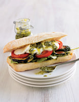 Mediterranean Burgers with Pesto