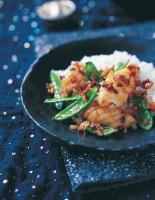 Squid Stir-Fried with Mangetout