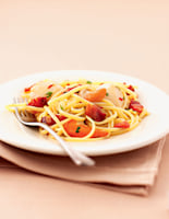 Pasta with Scallops & Pancetta