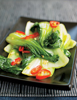 Pak Choi with Chilli & Ginger