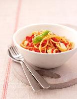 No-Cook-Tomato Spaghetti