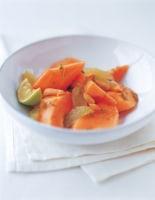 Papaya, Lime & Almond Salad