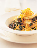 Goats' Cheese Linguine with Herbs