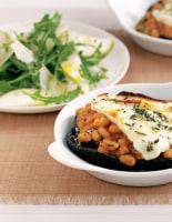 Beans & Haloumi Mushrooms