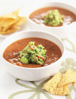 Bean Soup with Guacamole