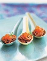 Soba, Tobiko & Spring Onion Spoons