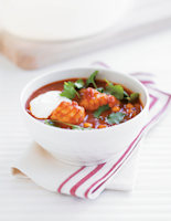 Spiced Monkfish & Chickpea Stew