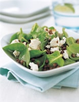 Warm Lentil & Goats' Cheese Salad
