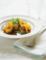 Vegetable Broth with Wontons