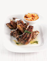 Lamb Cutlets with Red Pesto