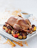 Roast Goose with Spiced Apples