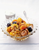 Winter Dried Fruit Salad