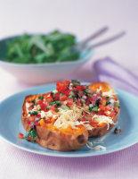 Sweet Potatoes & Tomato Salsa