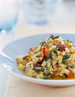 Pepperoni & Wilted Spinach Risotto