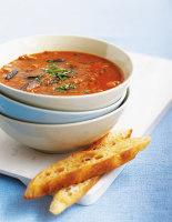 Tomato, Lentil & Aubergine Soup